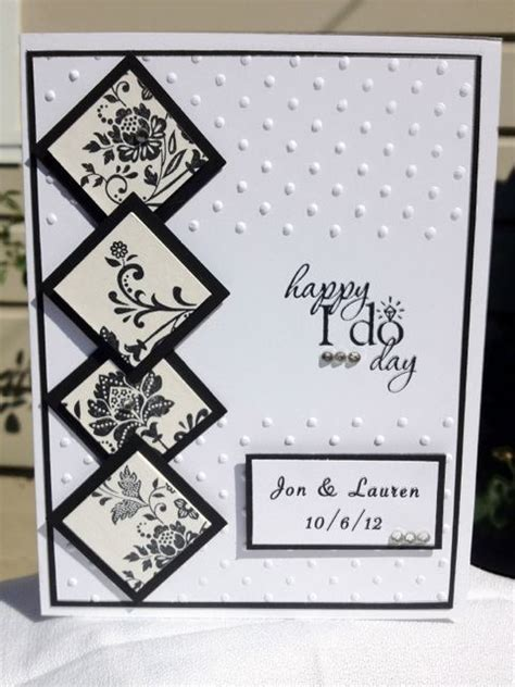 Black And White Handmade Cards - black and white personalized wedding handmade card