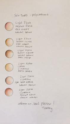 colored pencil skin tones my prismacolor skin tone color palette by