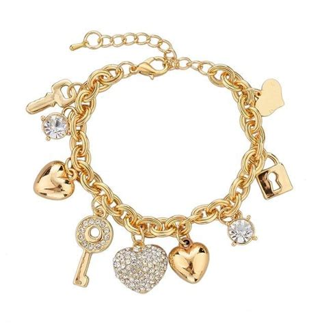 Love Locked Gold Charm Bracelet   Pandoras Box Inc