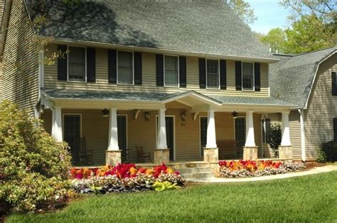 houses with front porches full front porch remodel on saltbox style home designed