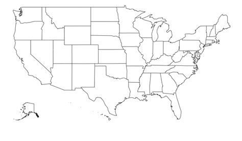 united states map including alaska and hawaii map of the united states including alaska and hawaii with