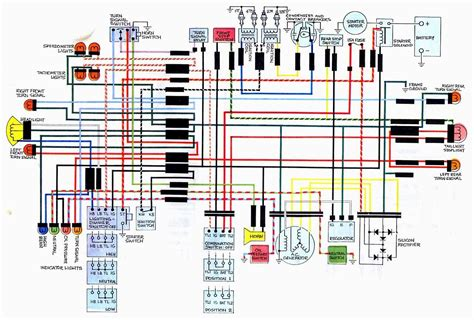 honda cb450 glenn 39s wiring diagram color coded new