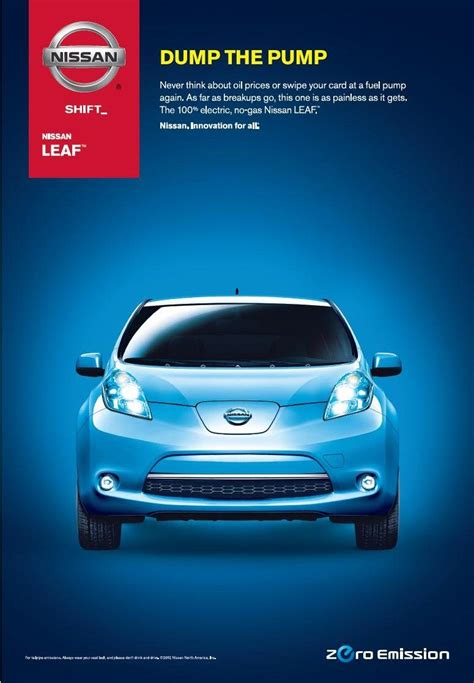 nissan leaf ads 100 electric nissan leaf dump the http