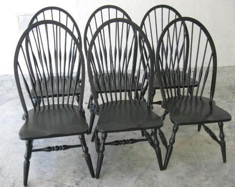 6 pottery barn high back solid oak dining chairs