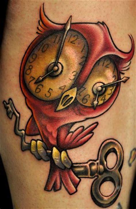 tattoo owl and clock owl clock tattoo memes