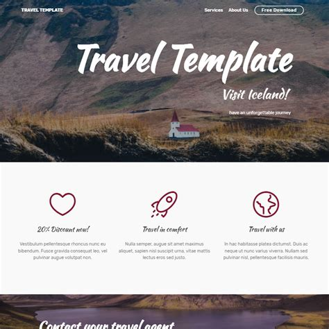 by template free free bootstrap template 2018
