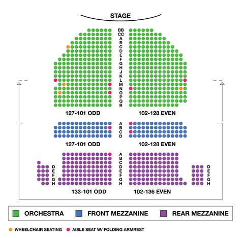 golden gate theater seating golden theatre large broadway seating charts