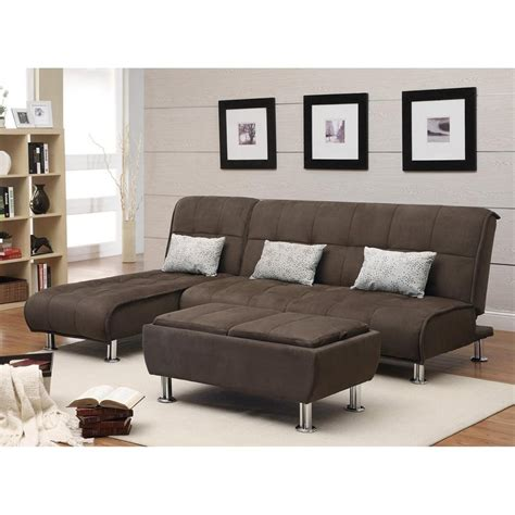 microfiber sectional with ottoman shop coaster fine furniture 2 piece brown microfiber