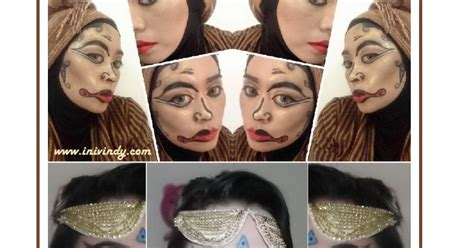 Eyeshadow Glitter Ranee ini vindy yang ajaib makeup ala topeng wayang dan kolaborasi nan epic