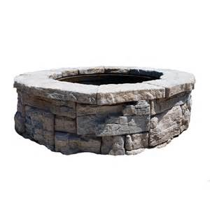 Lowes Firepit Kit Shop 58 In Rosetta Pit Patio Block Project Kit At Lowes