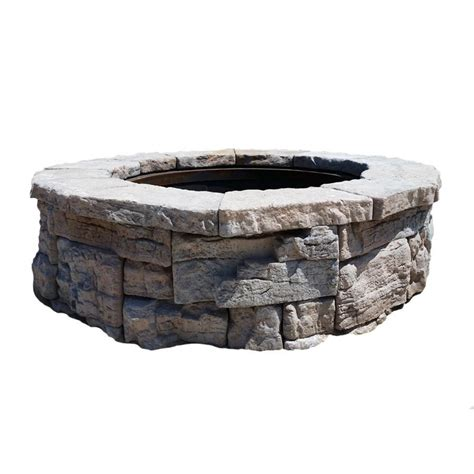 Lowes Outdoor Firepit Shop 58 In Rosetta Pit Patio Block Project Kit At Lowes