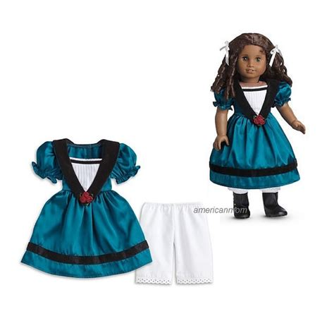 Where To Get American Girl Gift Cards - american girl cecile meet outfit dress pantelettes teal marie grace retired new ebay