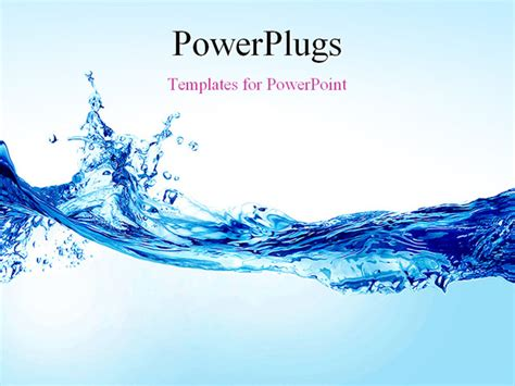 powerpoint template water image gallery splash template