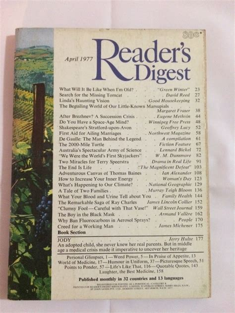letters to vã ra vintage international books readers digest april 1977 vintage magazine aud 5 00