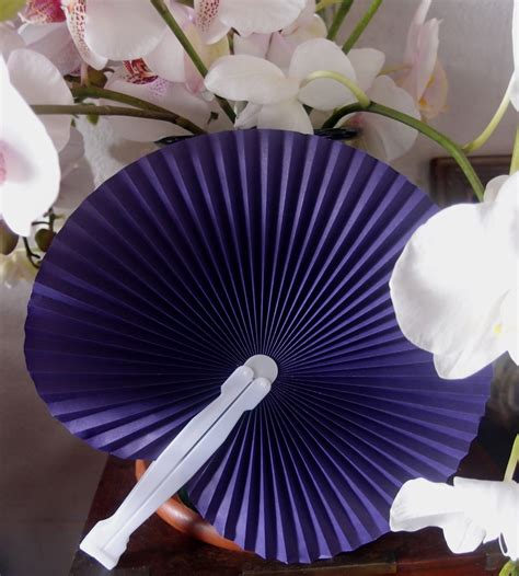 chinese fans for sale 9 quot purple chinese folding accordion paper hand fan for