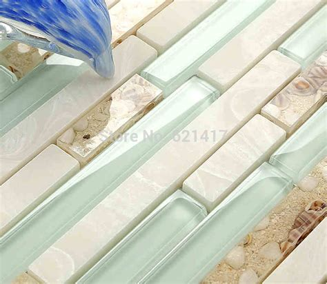 Purchase Tile Aliexpress Buy Light Blue Glass Shell