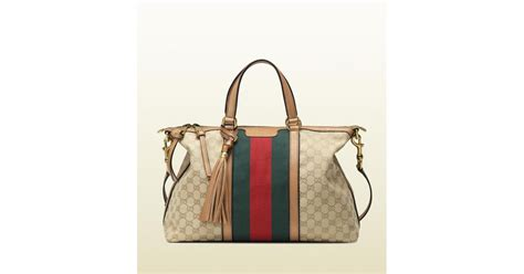 Gucci Top Ori Arken gucci rania original gg canvas top handle bag lyst