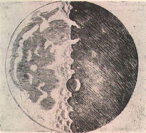 Drawing The Moon by Galileo S Drawings And Writings High Altitude Observatory