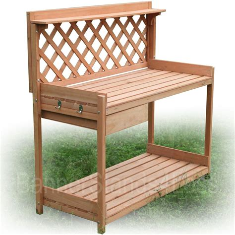 plant potting bench wood planter potting bench outdoor garden planting work