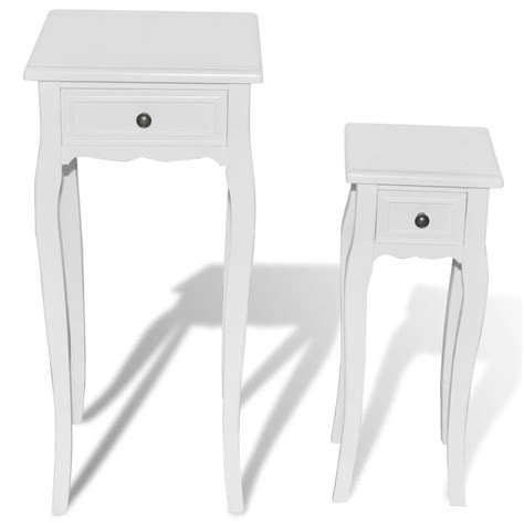 white side table with drawer white telephone side table with drawer 2 sizes