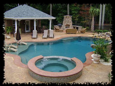 Custom Concrete Spas Aquatic Creations Inc Backyard Pools And Spas