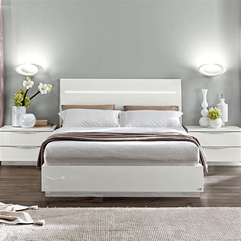 caligula legno white ft small double bed led headboard