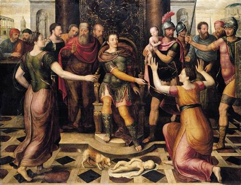 The Judgment Of by File Antoon Claeissens The Judgement Of Solomon