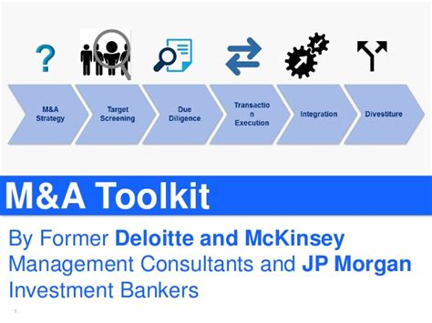 Jp Investment Banking Mba Scholar by Merger And Acquisition M A Toolkit