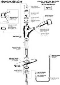 American Kitchen Faucet Parts American Standard Faucet Parts Diagram