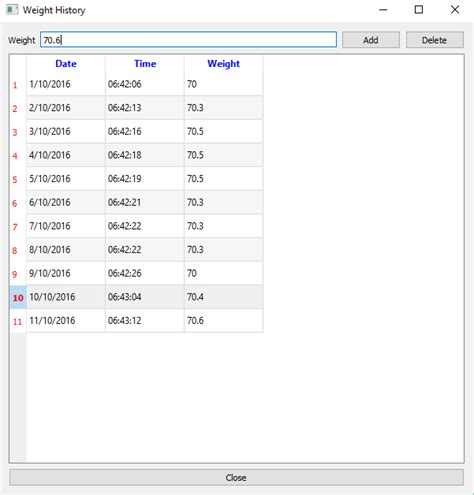 qt programming android weight history application for desktop and android using