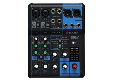 Mixer Yamaha Mg 06x Original 6 Ch yamaha mg 06x compact mixer at low prices at huss