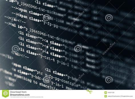 computer code html stock image image  macro javascript