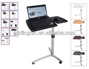 Desk Height For Computer Keyboard Angle Height Adjustable Rolling Laptop Desk Bed