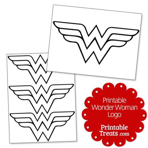 printable wonder woman logo printable treats com
