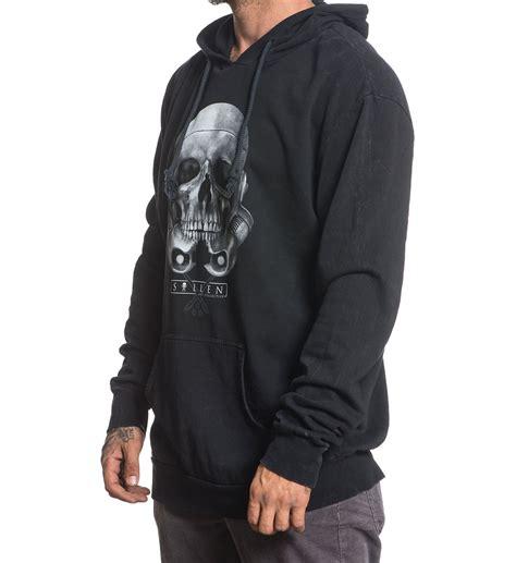 tattoo hoodies rogue skull mens pullover hoodie clothing