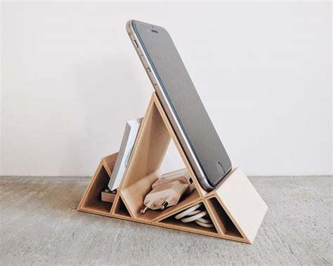 Handmade Wooden Desk - handmade wooden minimal geometric desk organizer gadgetsin