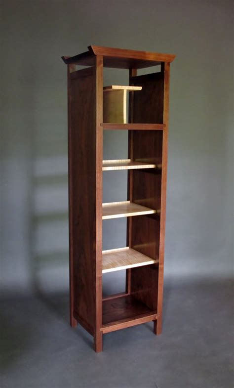 Narrow Room Divider Narrow Bookcase Cabinet Media Storage Bookshelves Room Divider Mid Century Modern Wood