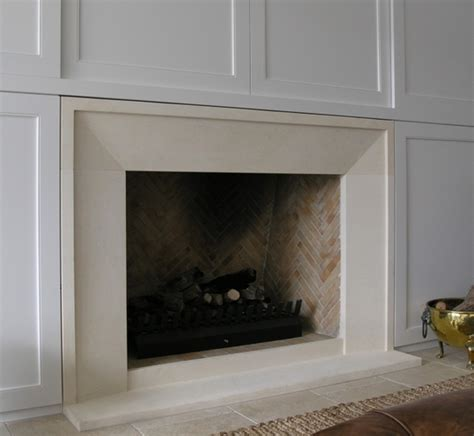bevel fireplace with small border style surround