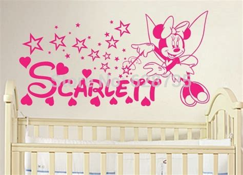 diy minnie mouse room decor diy minnie mouse personalized name vinyl wall decal stickers for baby nursery wall