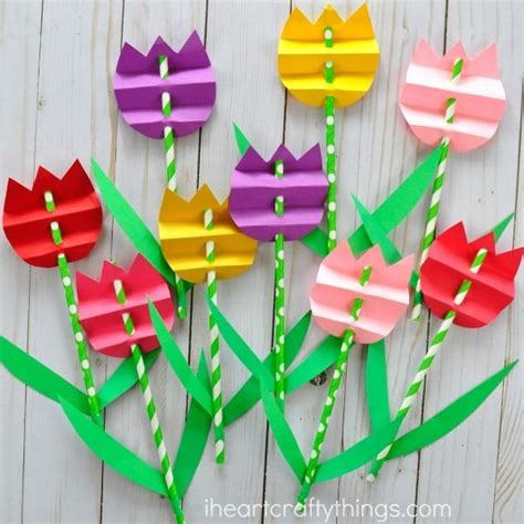 Paper Flower Craft For Preschoolers - flower craft preschool crafts