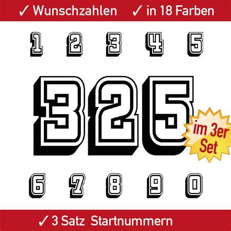 Aufkleber Zahlen Auto by 3x3 Rennsport Ziffern Set Aufkleber Auto Motorrad