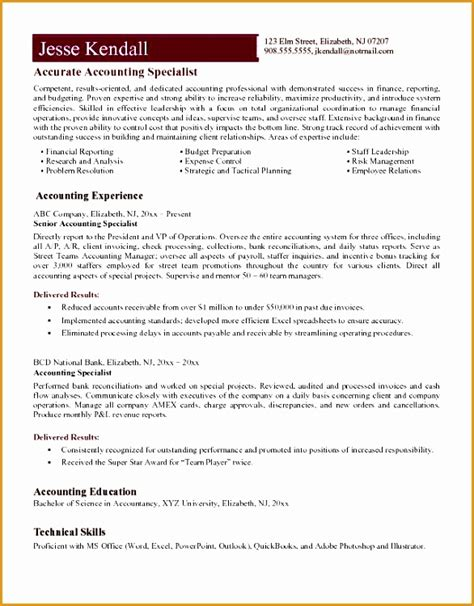 Resume Exles For Accounting Specialist 8 accounts payable specialist resume free sles exles format resume curruculum