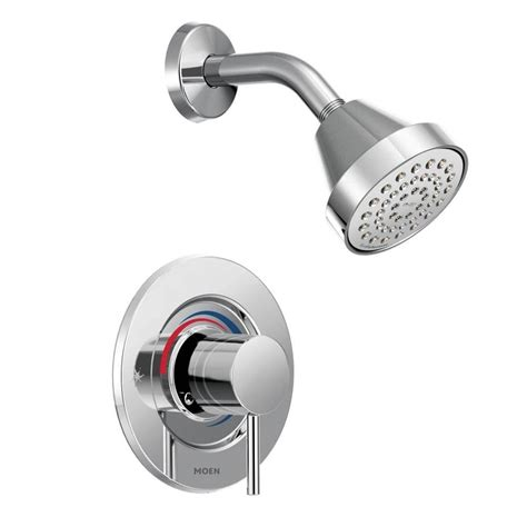 Temperature Shower Faucet moen align 1 handle posi temp shower faucet trim kit in chrome valve not included t2192hc