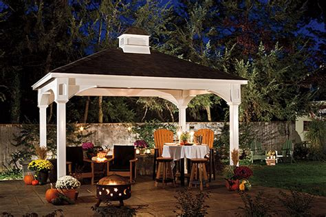 backyard pavilion vinyl traditional pavilion pa area backyard beyond