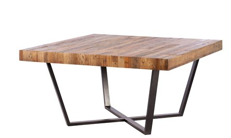 nevada square dining table reclaimed timber all dining