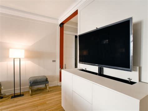 Tv Encastrable Dans Un Meuble by R 233 Novation Int 233 Rieure Appartement Ouest Home Meuble