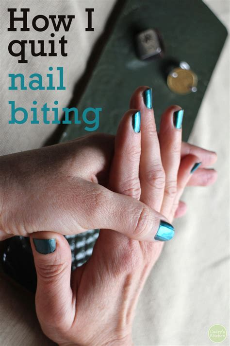 Quit The Nail Biting Habit by 6 Weeks Going Strong How I Quit Nail Biting Cadry S