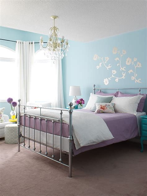 lavender and turquoise bedroom metal bed contemporary girl s room margot austin