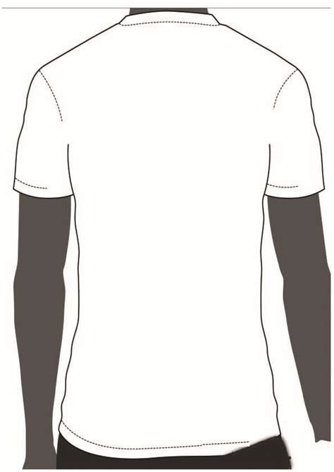 empty t shirt template 02yzel blank t shirt outline