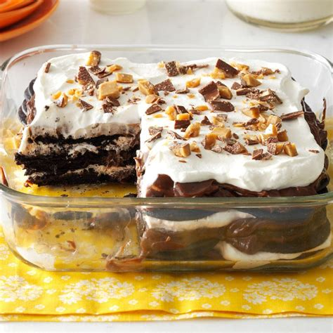 double chocolate toffee icebox cake recipe cakes